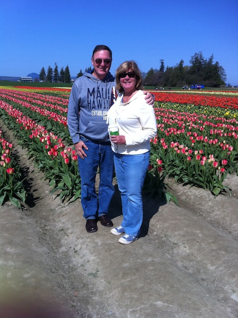 Mike & Chellie at the Tulip Festival, Washington State